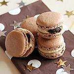recette Macarons au chocolat garnis au foie gras & aux figues