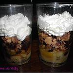 recette Verrines macarons, chocolat, banane
