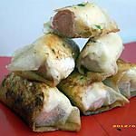 recette briouates au saint moret et saucisses de strasbourg