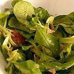 salade de mâche et sa sauce à l'érable