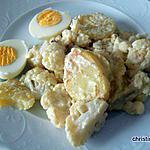 recette Recette de légumes : choux-fleurs, pommes de terre sauce moutarde