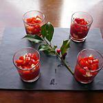 recette Verrines poivrons marinés/chèvre