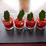 recette Verrines tomates/poivrons/raclette