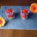 recette verrines cantal/jambon/poivrons