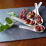 Petites cuillères moules/bacon