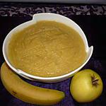 recette Compote bananes/pommes