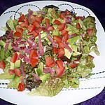recette Salade tomates/ Avocat/jambon de Bayonne