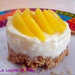 recette Cheesecake mangue et chocolat blanc