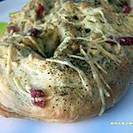 recette fougasse herbes de provence et petits lardons