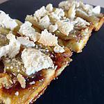 recette Tarte poire-pralin et crumble de macarons
