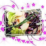 recette Salade de chou rouge cru , pomme verte et raisins