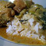 Poulet au Basilic et Curry