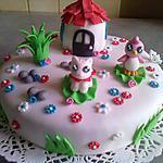 Gâteau pet shop en pâte à sucre