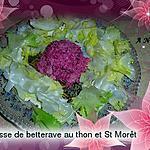 recette Mousse  de betterave-radis noir  au thon et  St Môret