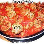 Boulette poulet-merguez à la sauce tomate