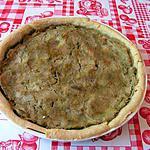 recette Tarte à la rhubarbe et aux spéculos