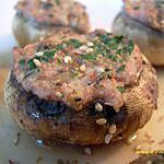recette champignons farcis au jambon blanc