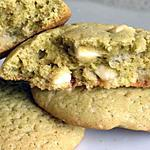 recette Cookies moelleux au thé matcha et chocolat blanc