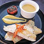 recette Filets de bar, feuilles de bricks, crème de potiron au basilic et tomates provencales