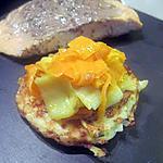 recette Saumon et sa fondue de poireaux et carottes sur galette de pommes de terre