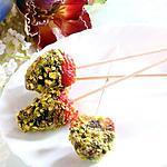 recette Fraises en robe de chocolat et strass de pistaches