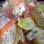recette salade d'endives à la truite fumée et graines de pavot