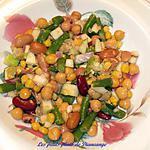 recette Salade de pois chiches et de légumineuses