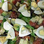 """recette Salade fraîcheur colorée à la façon de """" Kapiluka""""..."""