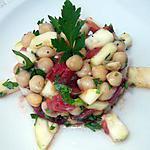 recette salde de pois chiche, courgette et tomate