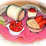 recette YAOURTS GOURMANDS AU CHOCOLAT BLANC AUX FRAISES