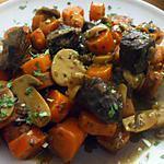 recette Boeuf au romarin ... sur son lit de carrottes et de champignons...