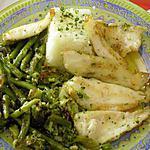 recette filets de perche aux légumes verts