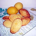 recette madeleines aux citrons