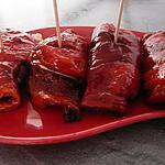 recette Poivrons roulés à la mozza et jambon cru (apéritif ou entrée)