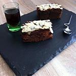 recette moelleux aux chocolat(nappage nutella et amande)