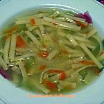 recette Soupe poulet et fettuccine