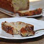 recette Cake rustique à la rhubarbe, aux fleurs d'acacias & au sésame