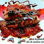 recette À la plancha dos de saumon sicilienne