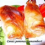 recette cones pommes camenbert