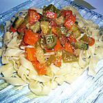 recette Tagliatelles et ses petits légumes