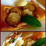 recette Tartelettes feuilletées aux poires et martini blanc