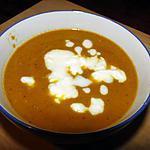 Soupe de carottes et pommes au curry