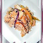recette Poêlée de poulet terre-mer