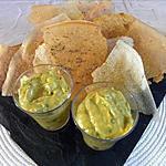 Guacamole papaye et ses chips