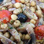 recette salade de pois chiche et harengs façon choupette