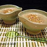recette Pots de crème au café façon « pots gourmands Mamie Nova » sous une couche de biscuit aux noisettes