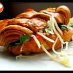 recette Croissant farci au salami végétal (recette végétarienne)