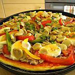 recette pizza poissons-mozarella,