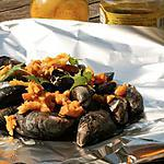 recette Moule Barbecue curry, citron confit & gingembre  (papillote)