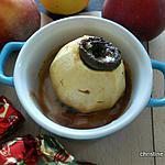 recette Pomme au four farcie aux bouchées aux griottes